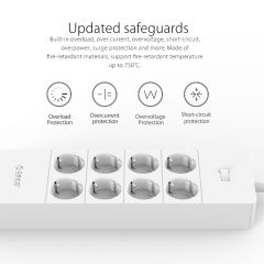 ORICO Electrical Socket EU Plug Extension Socket  Outlet Surge Protector EU Power Strip with 5x2.4A