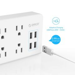 ORICO Electronic Strip Socket US Plug Power Strip  2 AC 4 AC Outlet Surge Protector 4 USB Charger