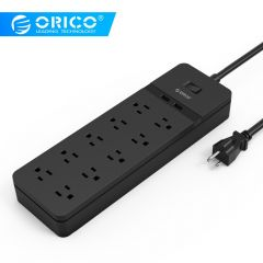 ORICO FPC USB Power Strip USB Socket Surge Protector 6/8/10 AC Outlets 2 USB Charging Ports 5V/2.4A