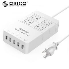 ORICO HPC-4A5U-US-WH travel surge protector Socket with usb power strip IC for Ipad Iphone (white)