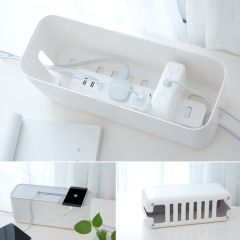 Original Xiaomi Power Strip Cord Socket Storage Boxes Cable Manager Heat Emission Hole Container Dus