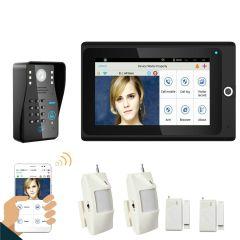 """Popular 7"""" WiFi Wireless RFID Password Video Door Phone intercom Doorbell IP Camera Home Alarm Syste"""