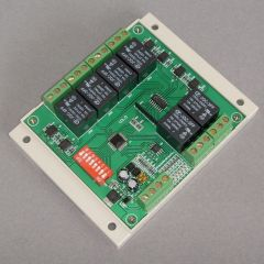 RS485 Decoder Six Sets of Relay Switches Can Be Querying Switch State PELCO Protocol.