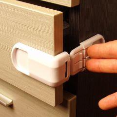 Urijk 4pcs Baby Child Safety Lock Door Buckle Drawer Cabinets Convenient Kids Door Fridge Safety Loc