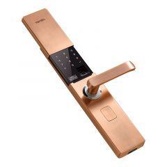 V9 IC Fingerprint Touch Screen Password Entrance Anti-theft Door Electronic Smart Lock Red bronze/K