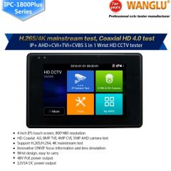 Wanglu Newest 4 inch Wrist CCTV HD Camera Tester H.265 4K IP 8MP TVI 4MP CVI 5MP AHD Analog 5-in-1 C