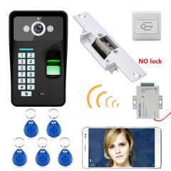 Waterproof HD 720P Wireless WIFI RFID Password Fingerprint Recognition Video Doorbell Intercom Access Control