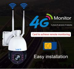CCTV Security Solar Power Battery Surveillance CCTV Camera 4G PTZ