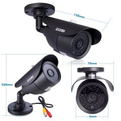 ZOSI HD 960H 1000TVL CMOS 42pcs IR Leds High Resolution Day/night Waterproof Indoor / Outdoor CCTV