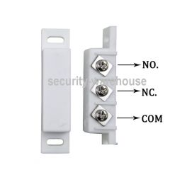 Wired Door Sensor Contact for Burglar Alarm NO NC